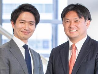 株式会社リヴァンプ 代表取締役社長 兼 CEO 湯浅 智之  シニア・アソシエイト 徳田 浩明